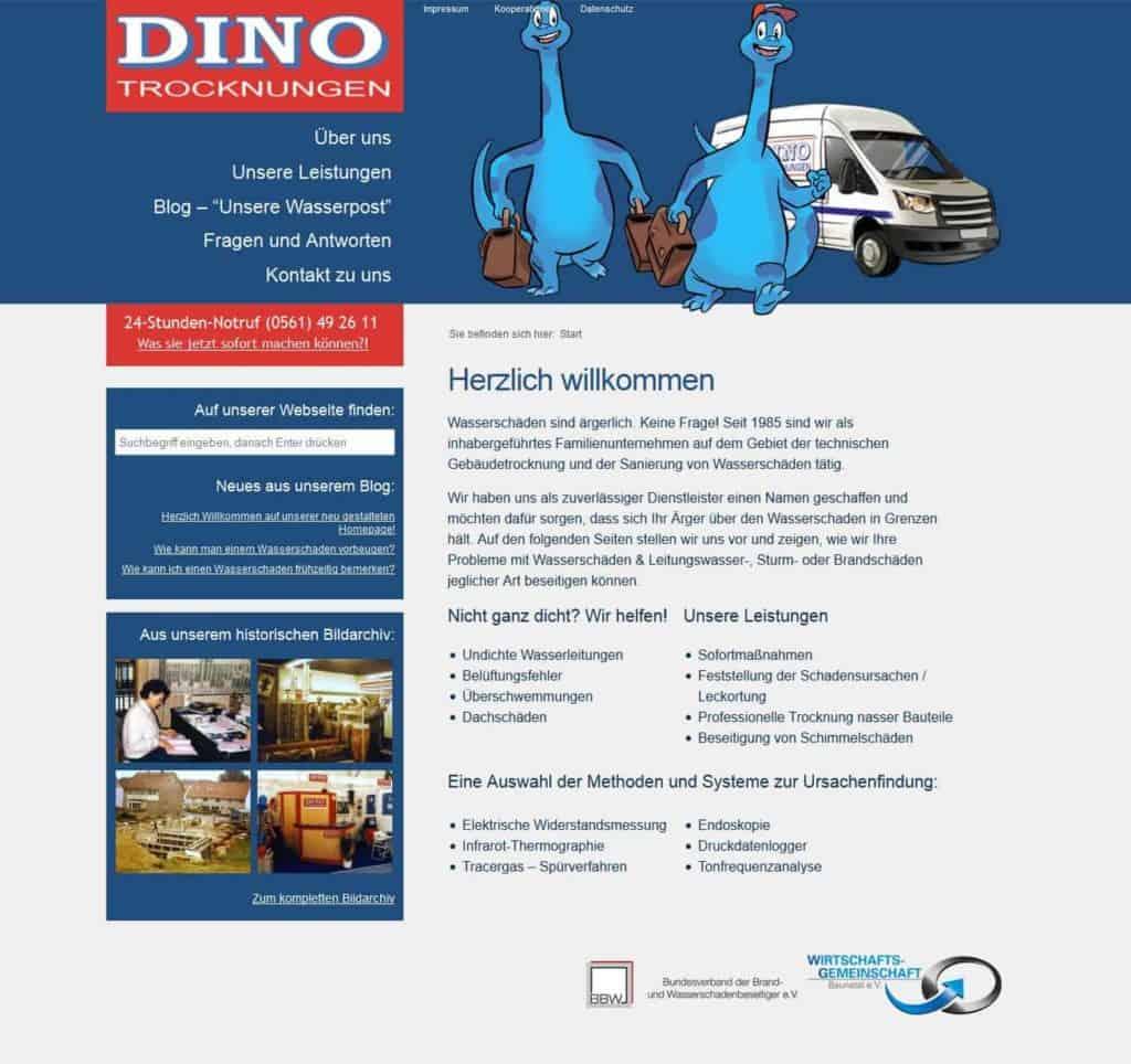 DINO Trocknungen Webseitenerstellung