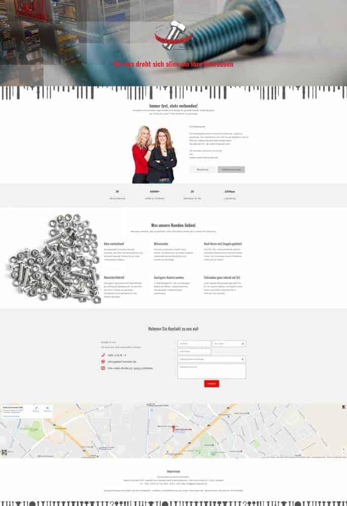 One Page Webseite für Geilert & Kanstein