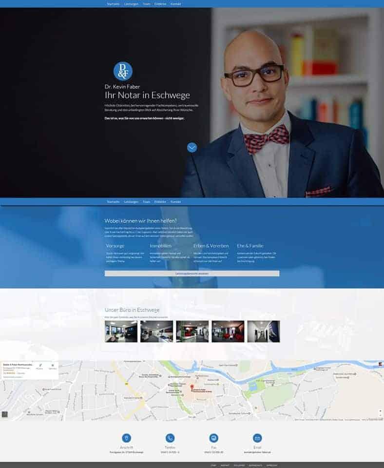 Webdesign Notar Faber Eschwege