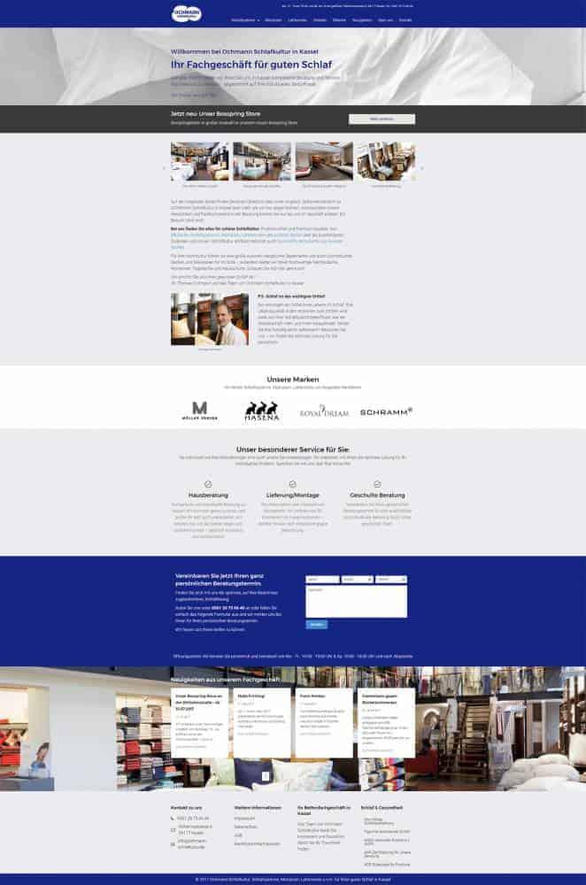 Webdesign Ochmann Schlafkultur Kassel