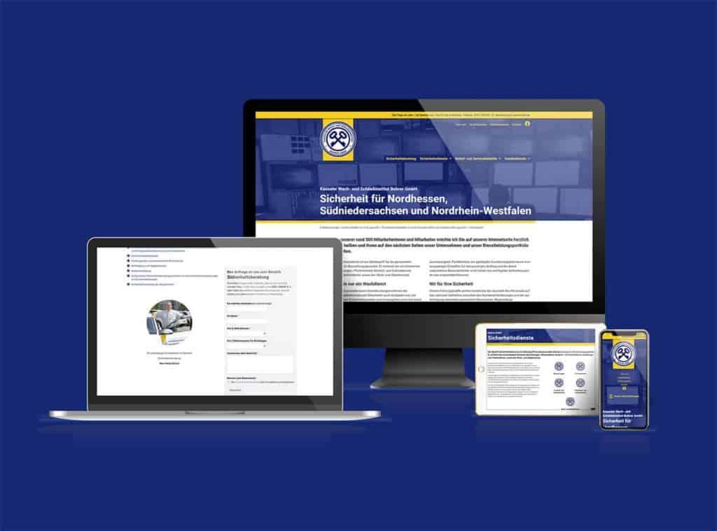 Webdesign KWS Sicherheit Kassel