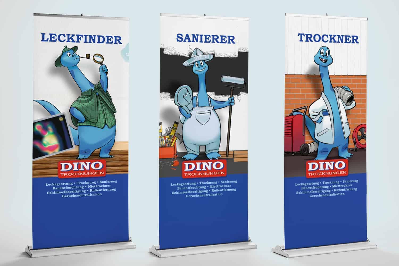 Dino Trocknungen Roll-Ups