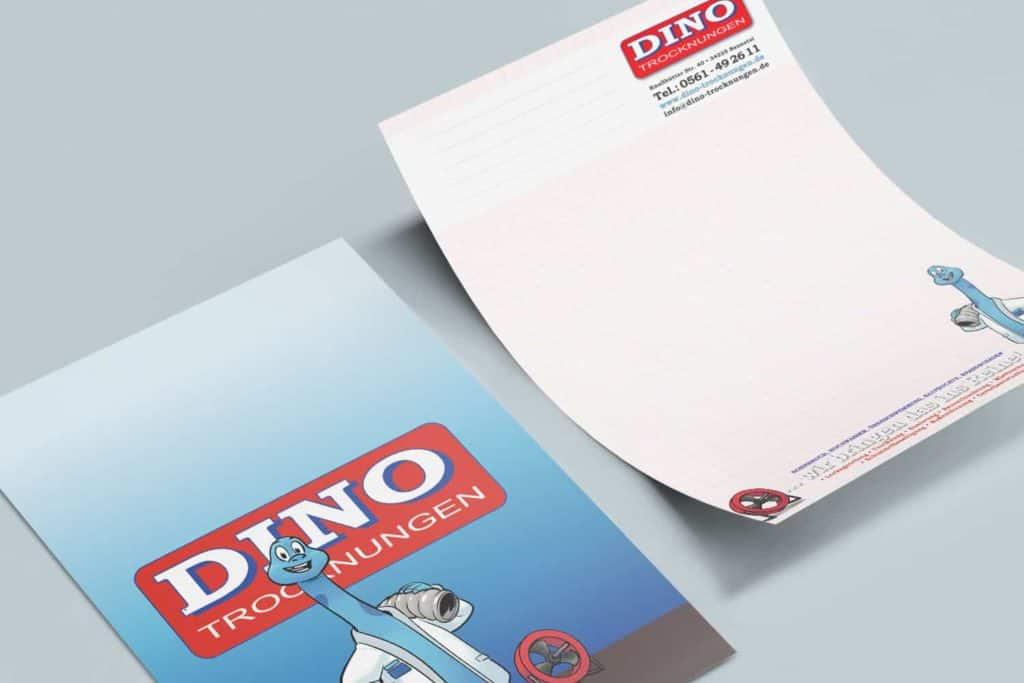Dino Trocknungen Briefpapier