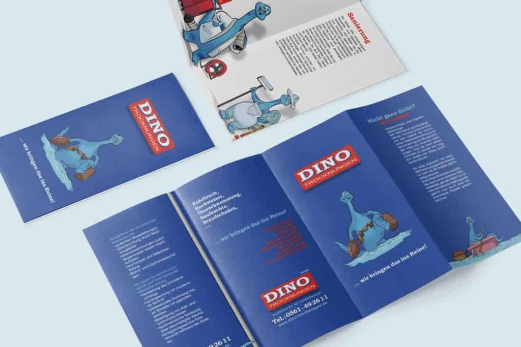 Dino Trocknungen Flyer