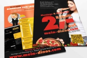 DinosPizza 2Euro Spar Flyer