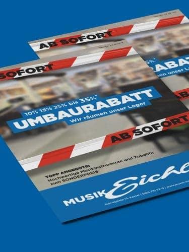 Musik Eichler Umbaurabatt Poster