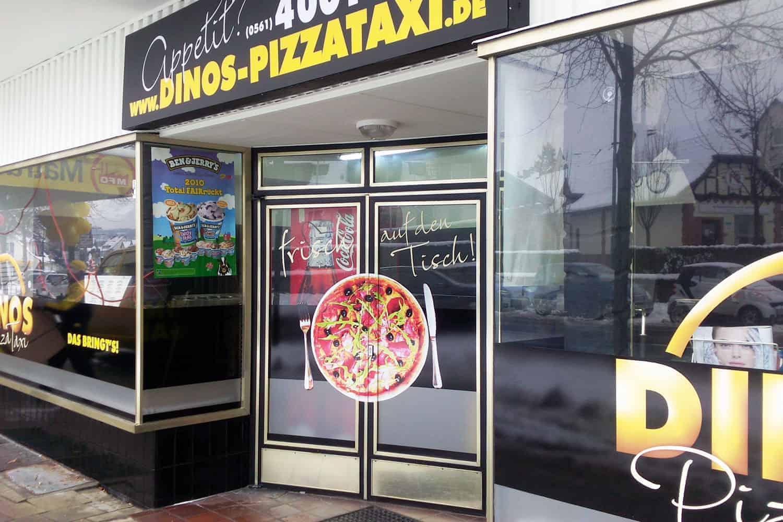 Ladendesign Dinos PizzaTaxi