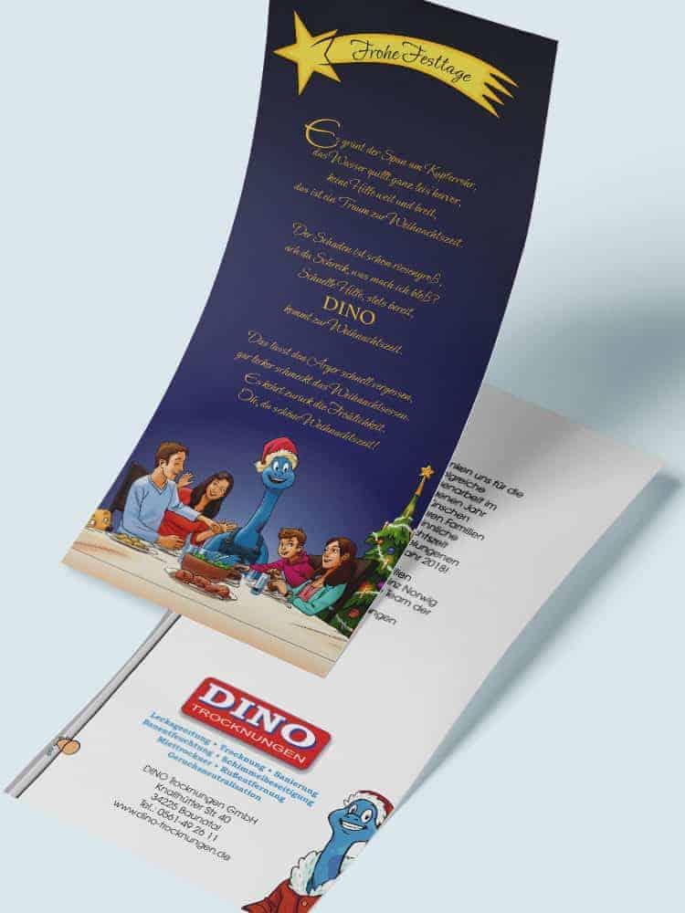 Dinos Weihnachtskarte