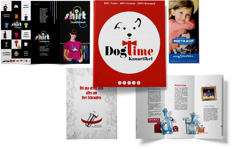 Flyer, Prospekte und Broschüren