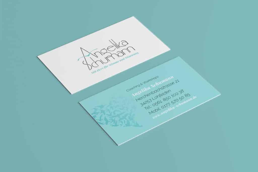 Gemacht: Visitenkarte Angelika Schumann