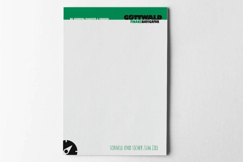 Gemacht: Briefpapier Gottwald Finanznavigator