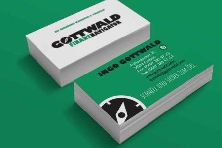 Gemacht: Visitenkarten Gottwald Finanznavigator