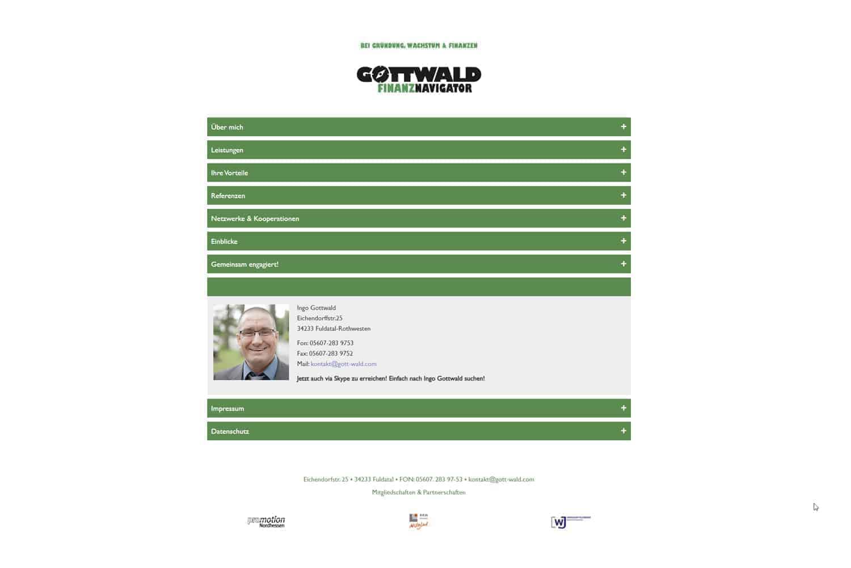 Gemacht: Webseite Gottwald Finanznavigator