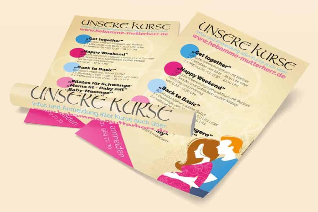Gemacht: Kursplakate Hebammenpraxis Mutterherz