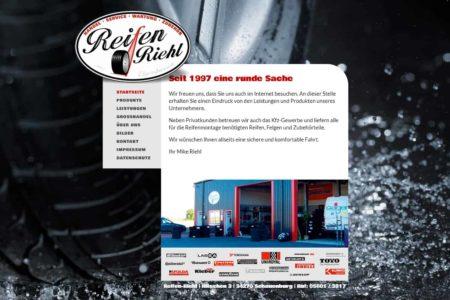 Lockruf Referenz - Webdesign Reifen Riehl