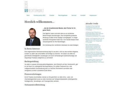Lockruf Referenz - Webdesign Rechtsanwalt Marin Becker