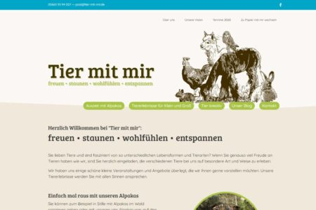 Lockruf Referenz - Webdesign Tier mit mir