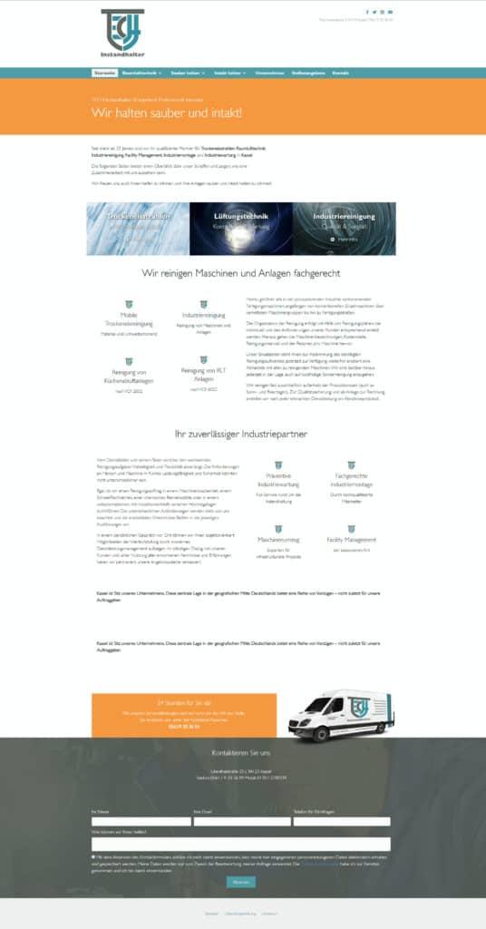 Webdesign für TEch Instandhalter Kassel