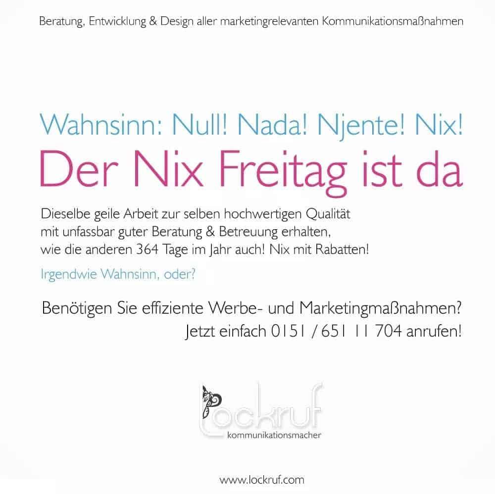 Black Friday bei der Werbeagentur Lockruf in Kassel